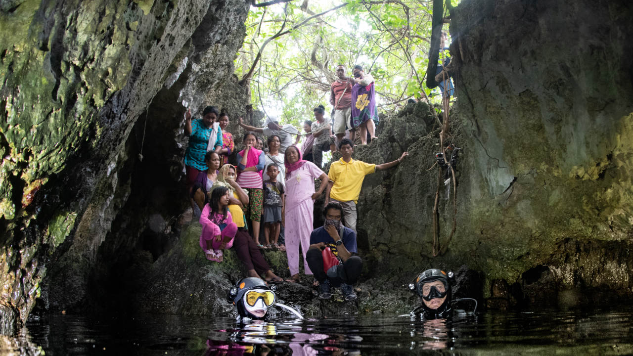 Village community cave wakatobi